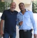 With actor Duane Martin, celebrity real-estate entrepreneur