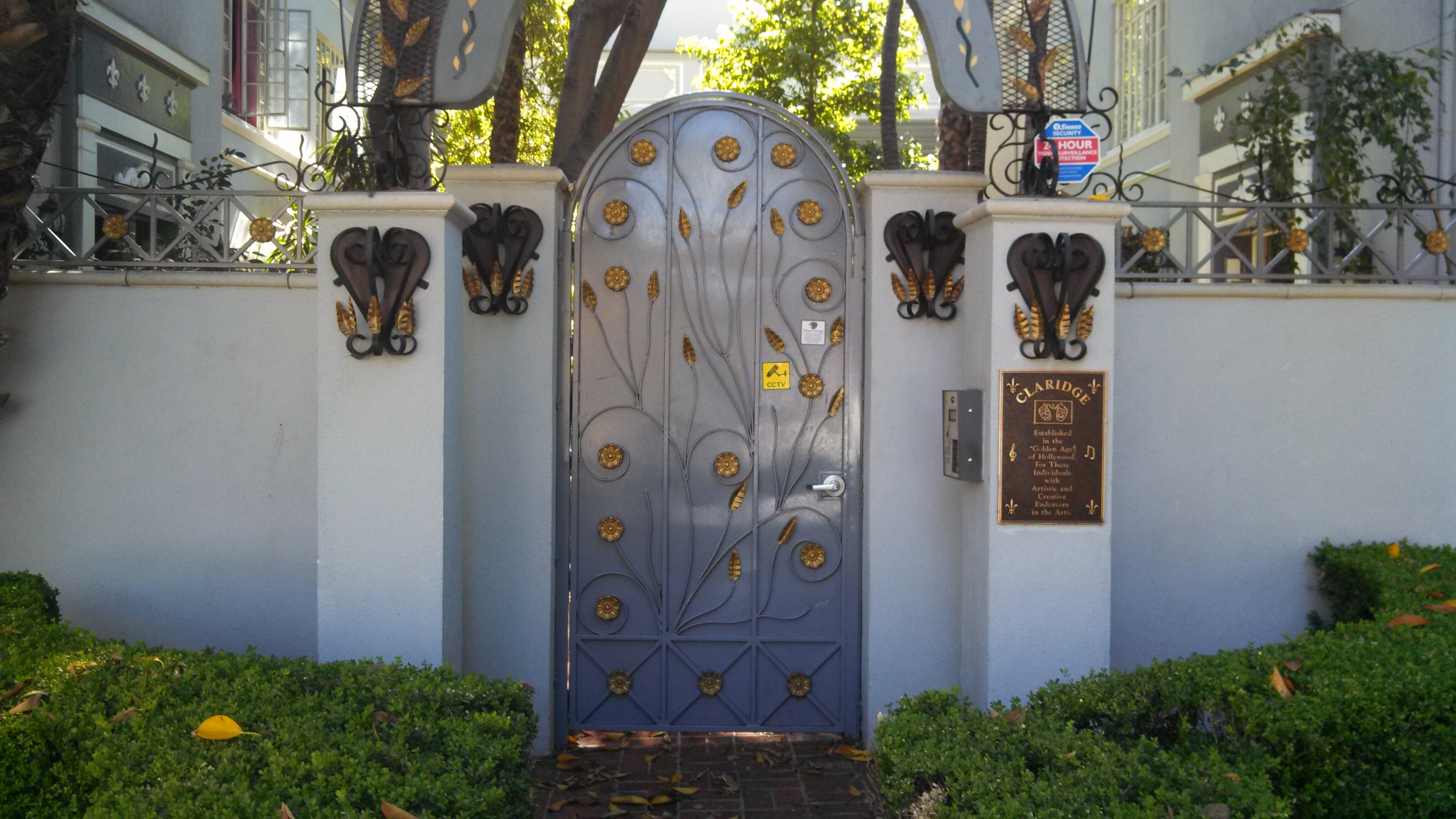 The Claridge Historic Art Deco Los Angeles Gate |