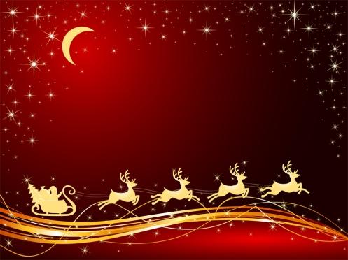 Santa, Reindeer Image